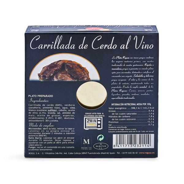 Carrillada de cerdo al vino - Cuchara de oro - ROGUSA
