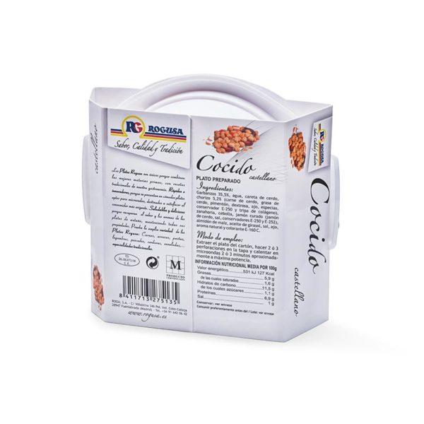 Cocido madrileño en plato de microondas - ROGUSA