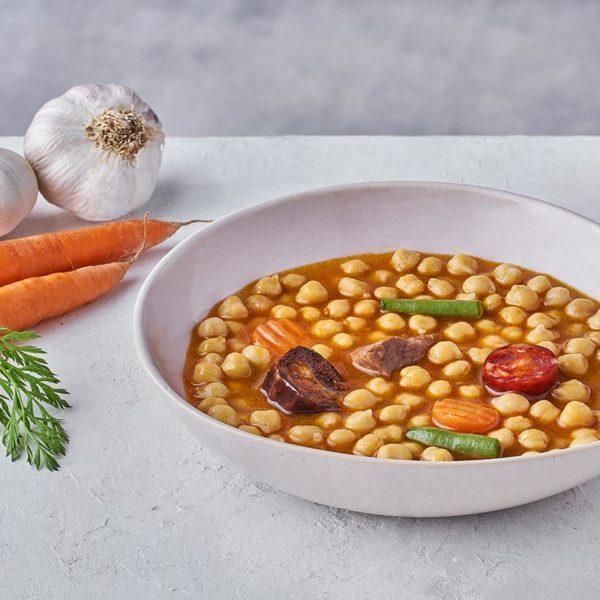 Presentación Cocido madrileño en plato de microondas - ROGUSA