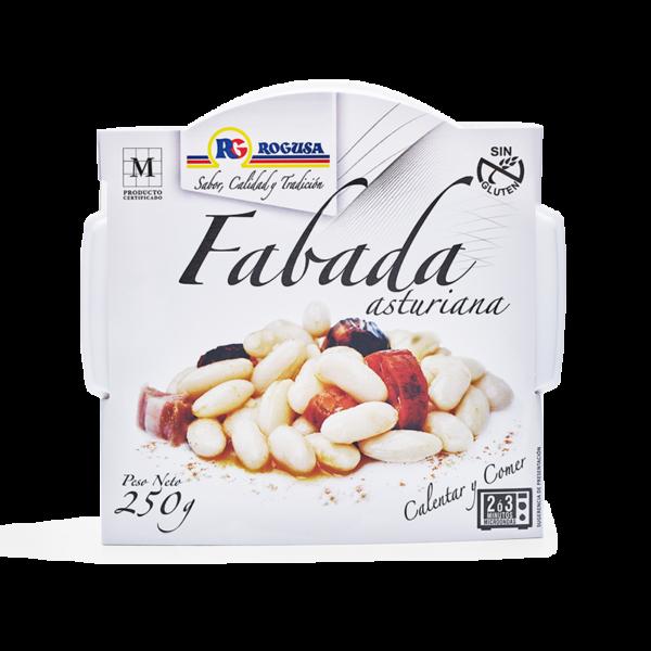 Fabada asturiana en plato de microondas - ROGUSA