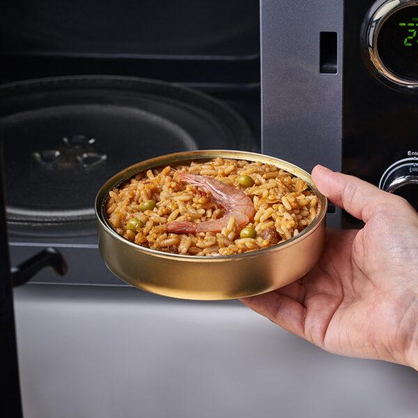 Paella lata de microondas